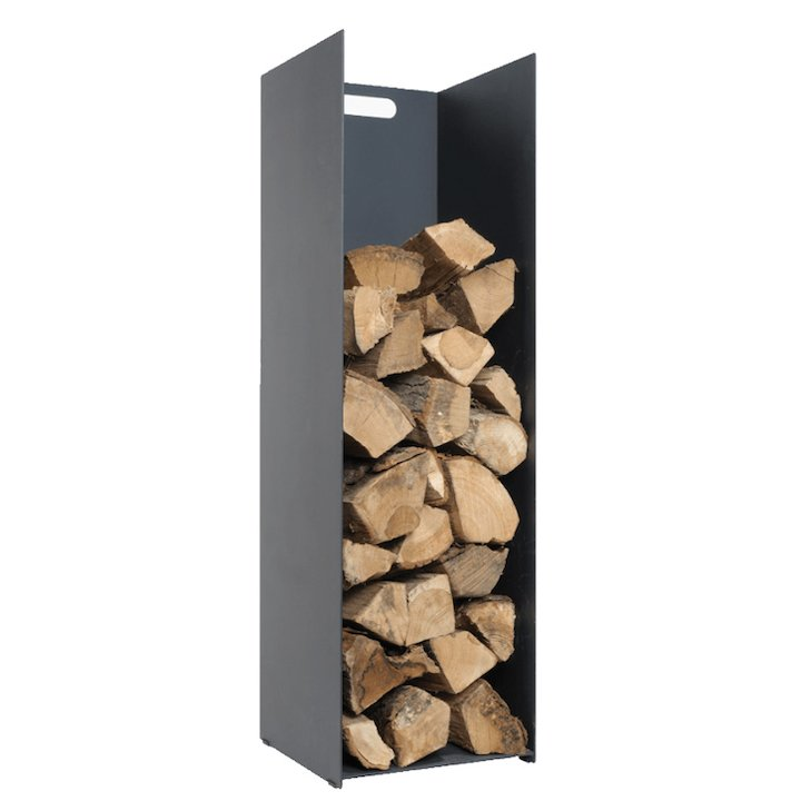 Stovax Contemporary Large Log Holder - Black