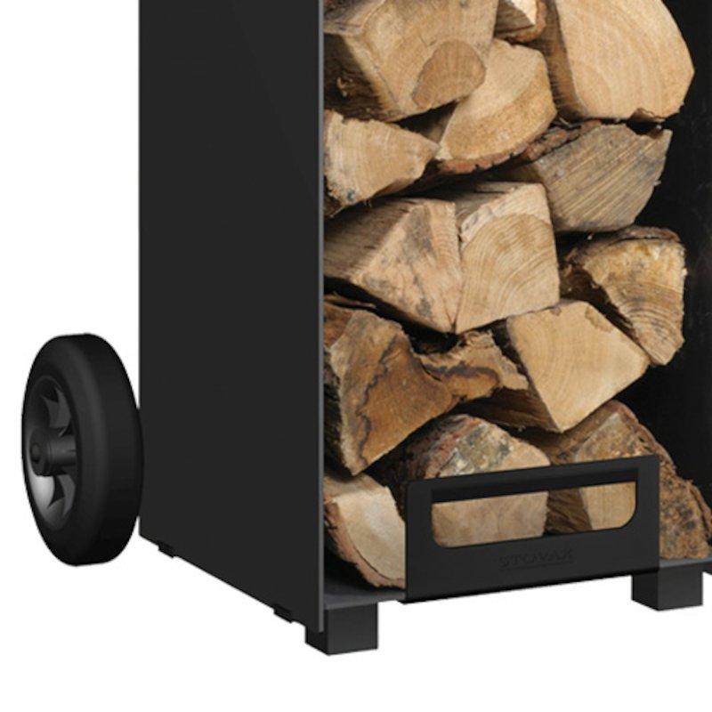 Stovax Contemporary Log Store Wheel Kit - Black
