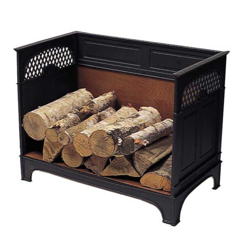 Vermont Cast-Iron Large Log Holder - Black