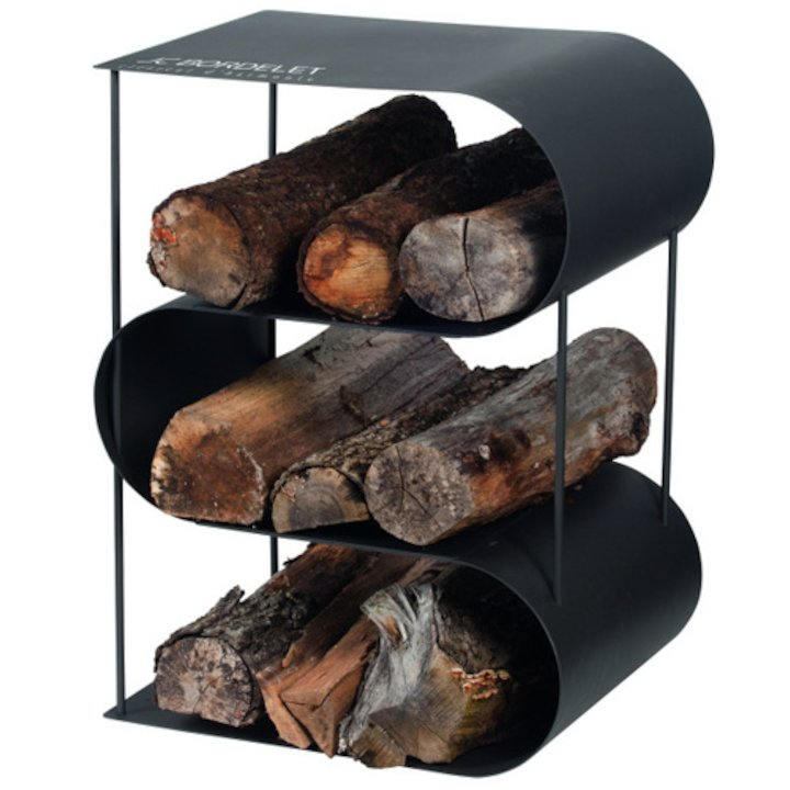 JC Bordelet Modern Log Holder - Clearance - Black