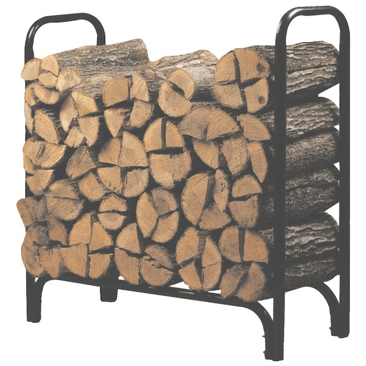 Calfire Outdoor Metal Log Rack - Black