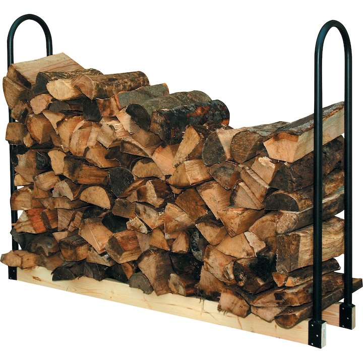 Calfire Log Rack Ends (Pair) - Black