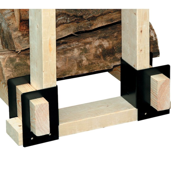 Calfire Log Rack Brackets (4) - Black