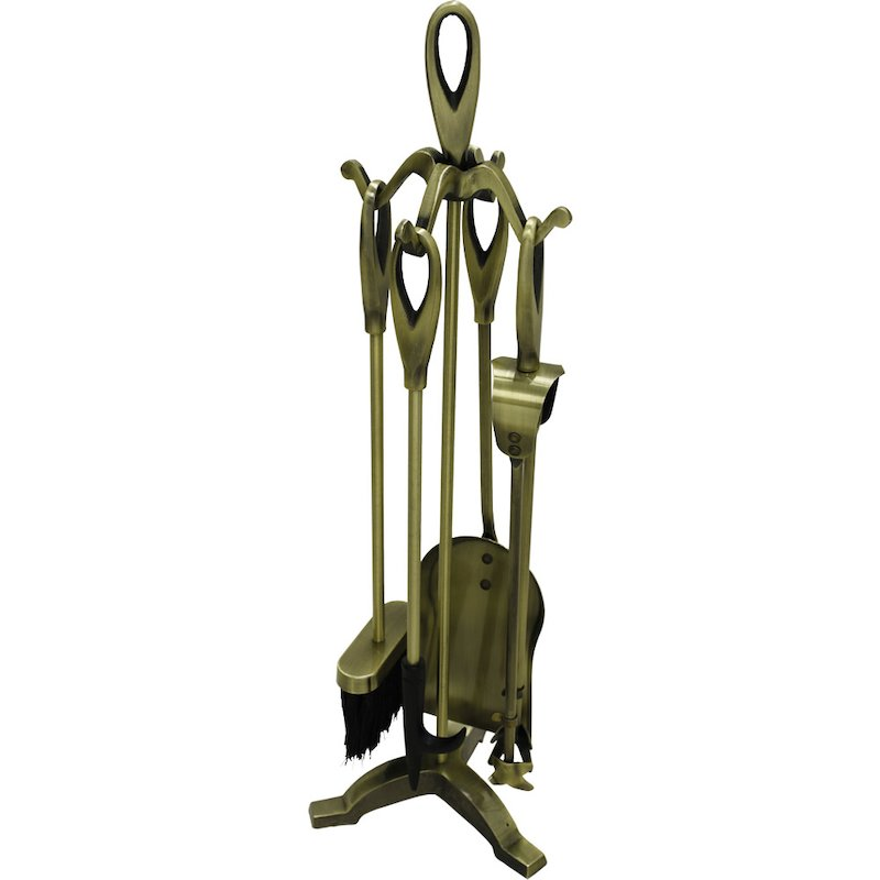 Calfire Loop Fire Tool Companion Set - Antique Brass