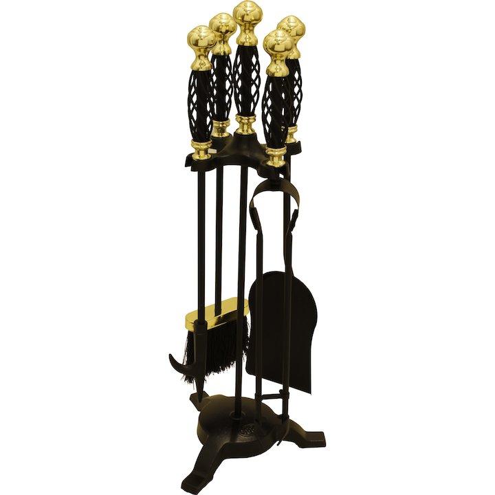 Calfire Spiral Fire Tool Companion Set - Black / Brass