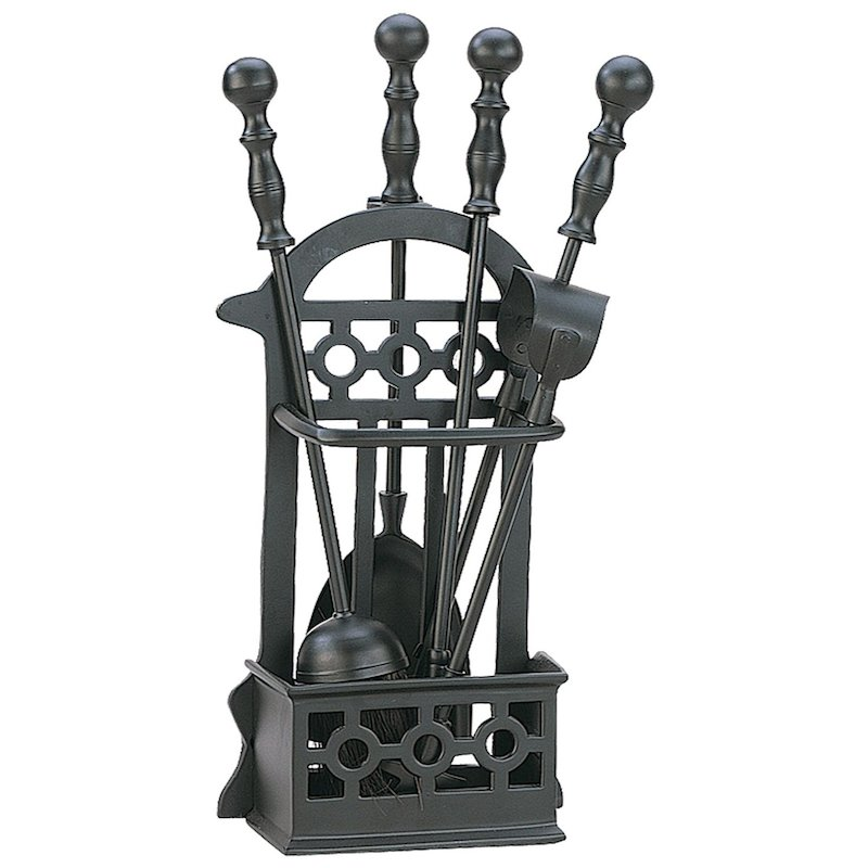 Manor Victorian Fire Tool Companion Set - Black