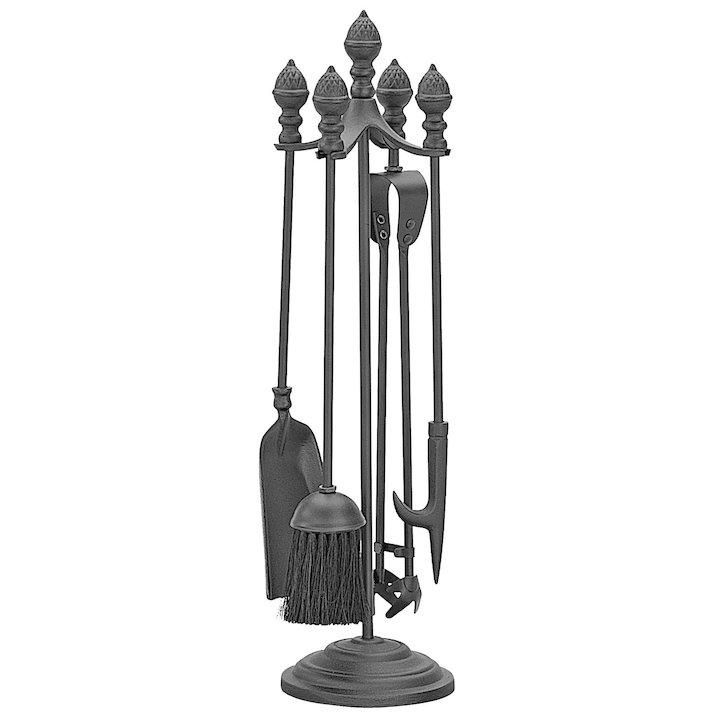 Manor Acorn Fire Tool Companion Set - Black