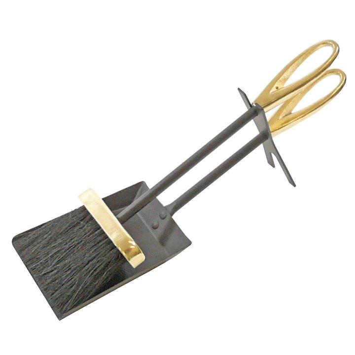 Manor Loop Fire Tool Hearth Set - Black / Brass
