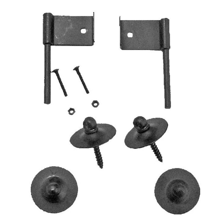 Manor Fire Screen Wall Hook Kit - Black