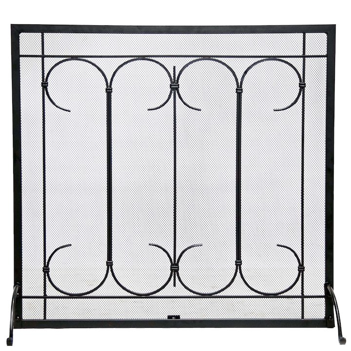 Calfire Iron Gate Fire Screen - Black