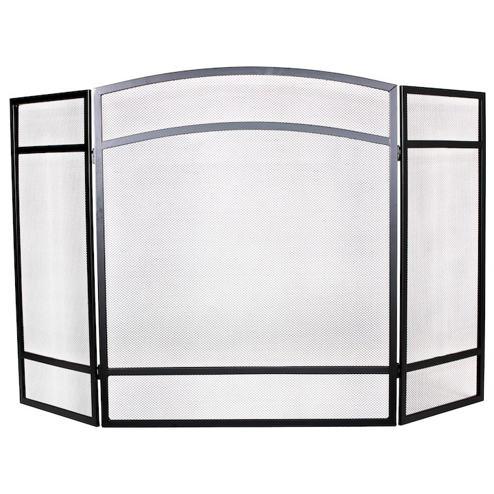 Calfire 3 Fold Basic Small Fire Screen - Black
