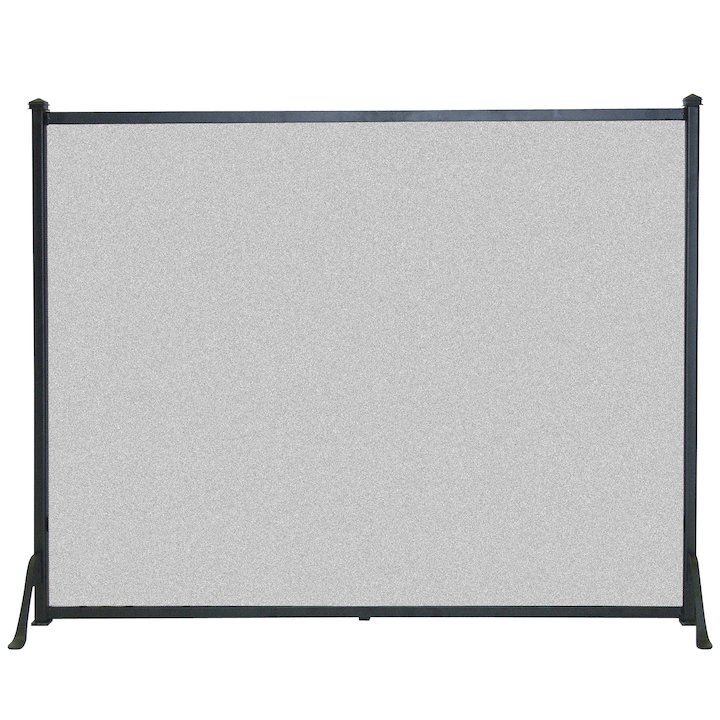 Calfire 3 Fold Plain Flat Large Fire Screen - Black