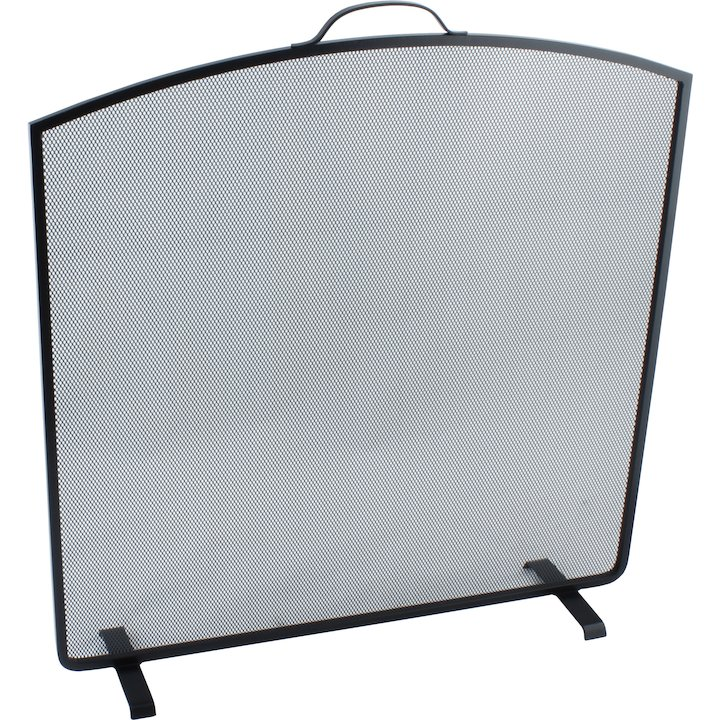 Calfire Noble Arched Top Large Fire Screen - Black