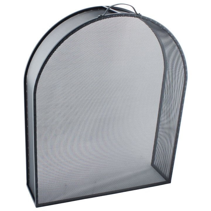 Calfire Noble Arched Box Fire Screen - Black