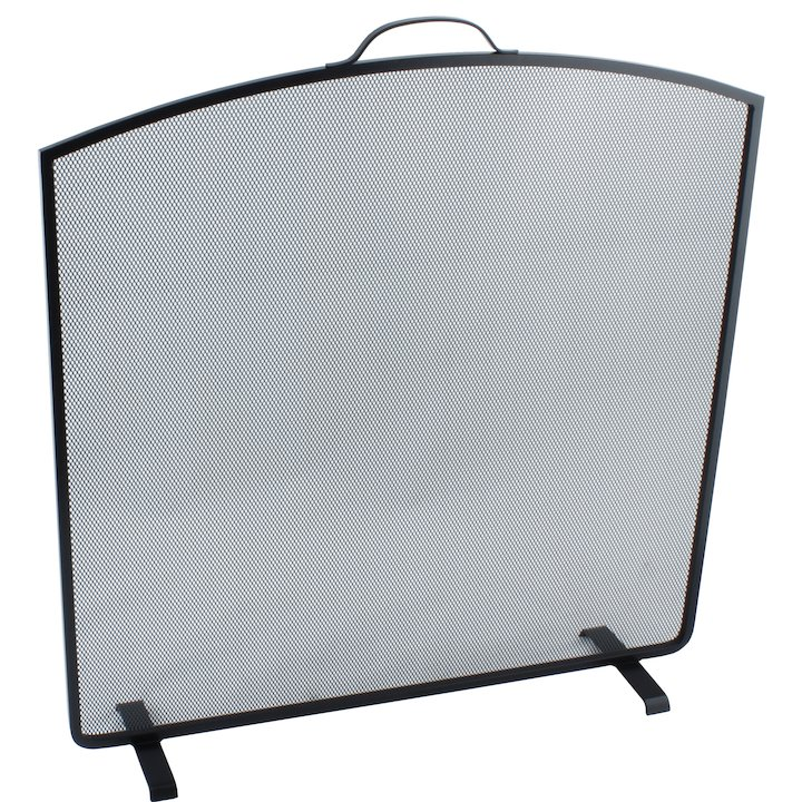 Calfire Noble Arched Top Small Fire Screen - Black