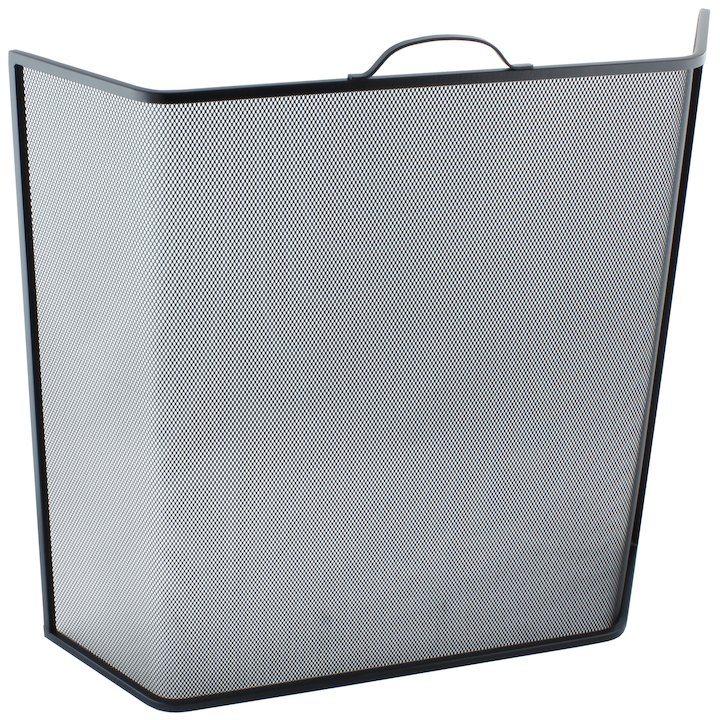 Calfire Noble Bent Large Fire Screen - Black