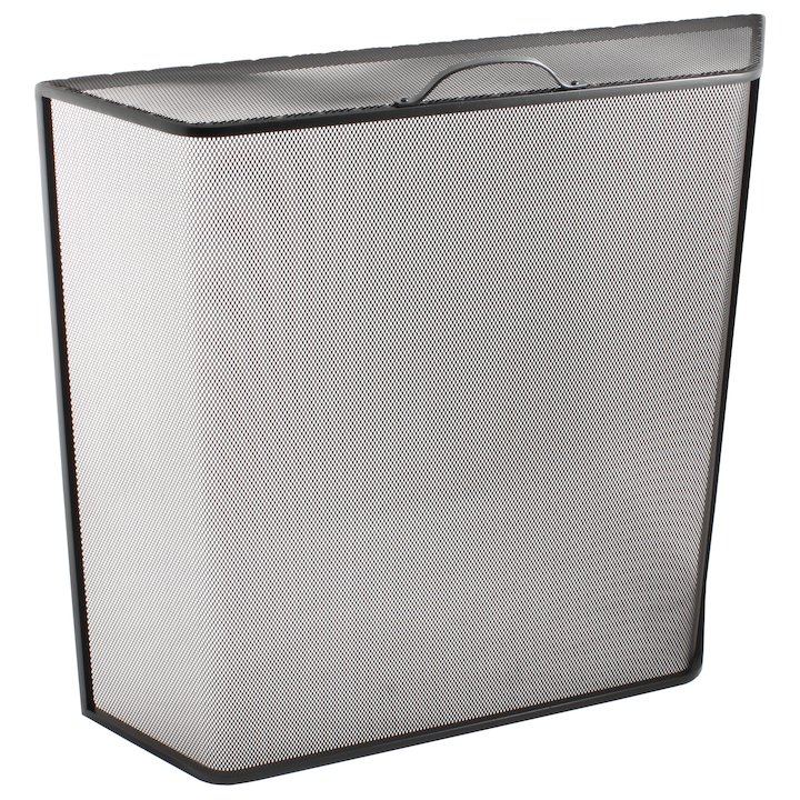 Calfire Noble Bent Box Medium Fire Screen - Black