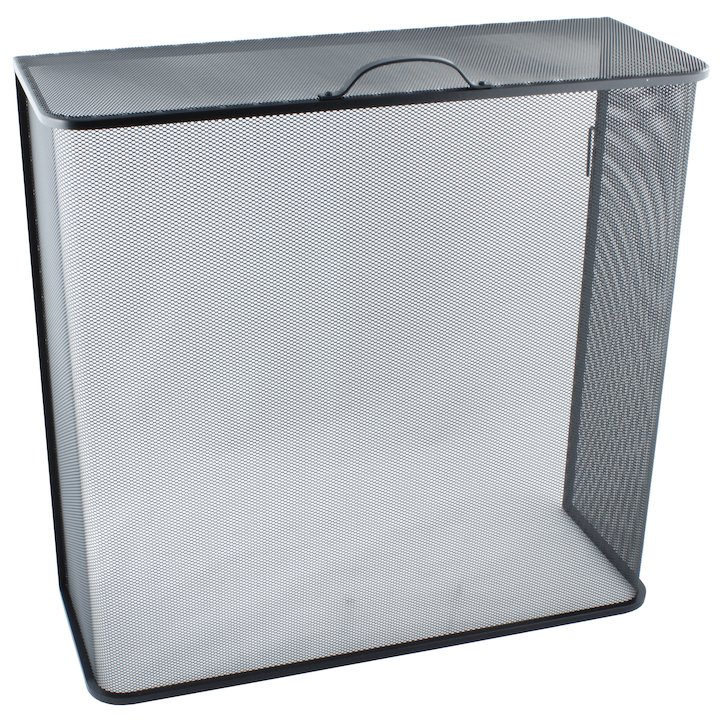 Calfire Noble Box Closed Fire Screen - Black