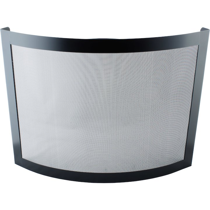 Calfire Noble Crescent Fire Screen - Black