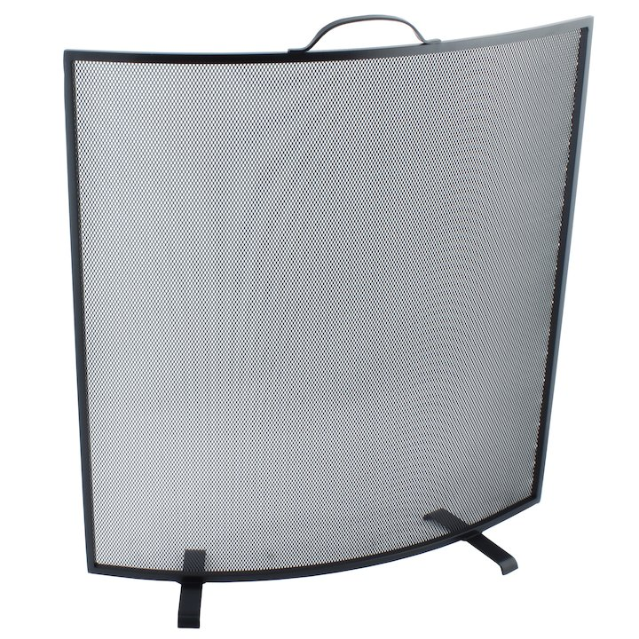 Calfire Noble Curved Fire Screen - Black