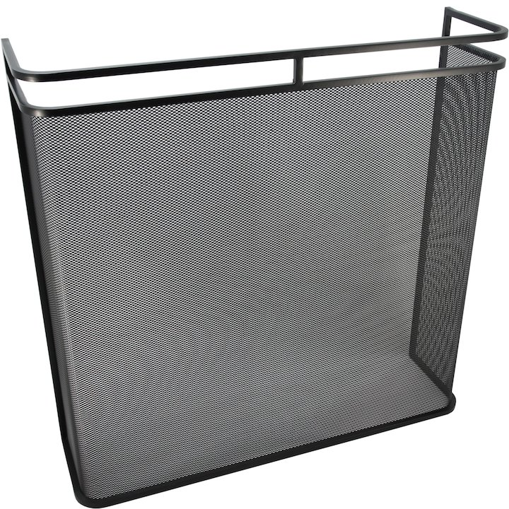 Calfire Noble Double Rail Box Fire Screen - Black