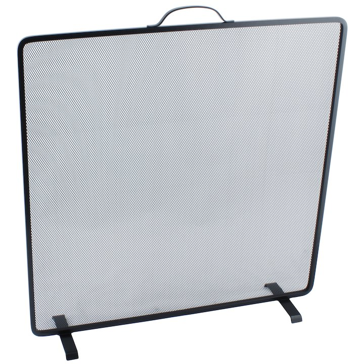 Calfire Noble Flat Square Small Fire Screen - Black