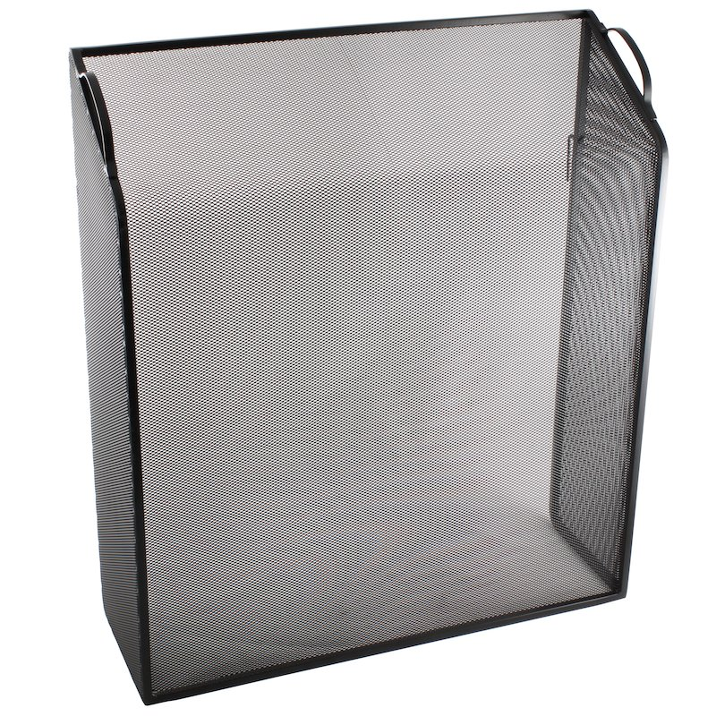 Calfire Noble Sloping Box Fire Screen - Black