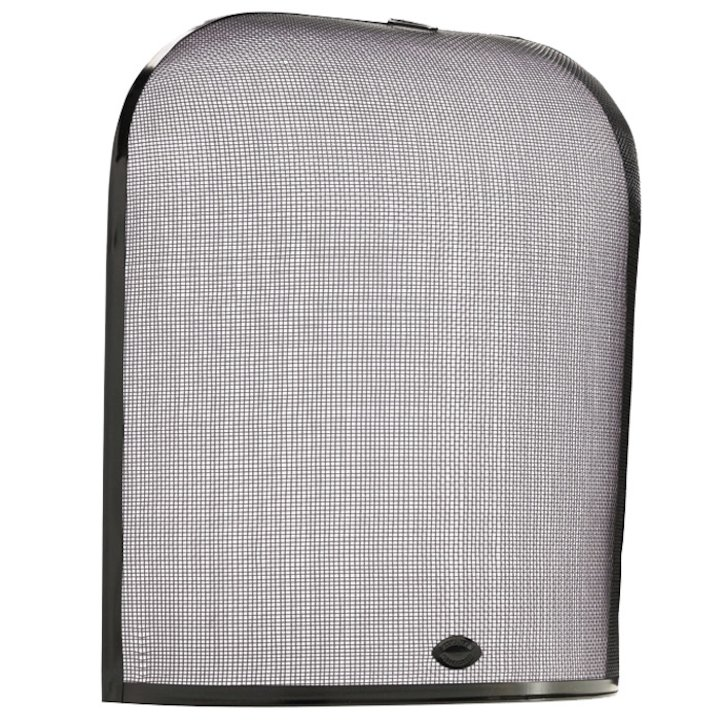 Calfire Domed Small Sparkguard Fire Screen - Black