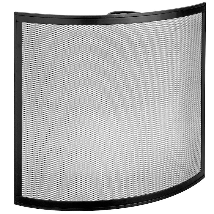 Manor Arc Large Fire Screen - Black