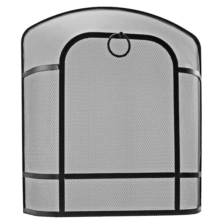 Manor Chiltern Large Sparkguard Fire Screen - Black
