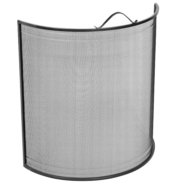 Manor Classic Bow Large Fire Screen - Black
