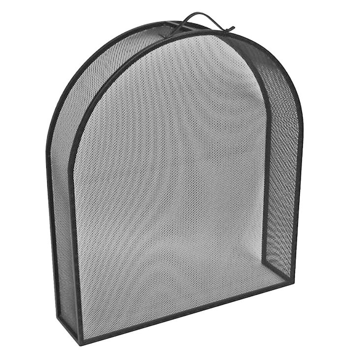 Manor Classic Inset Arch Fire Screen - Black
