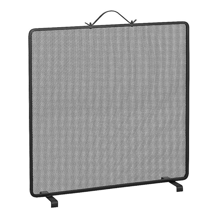 Manor Classic Single Small Fire Screen - Black