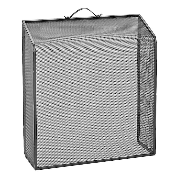 Manor Classic Slope Fire Screen - Black