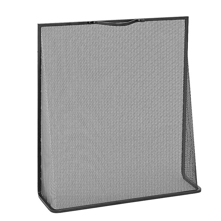 Manor Classic Wedge Small Fire Screen - Black