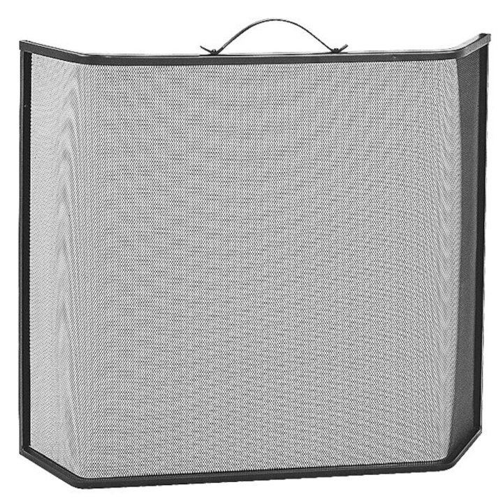 Manor Shaped Fire Screen - Black