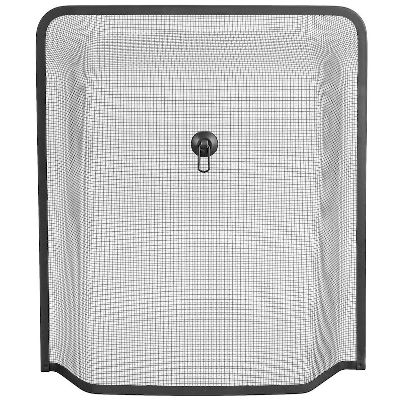 Manor Windsor Small Sparkguard Fire Screen - Black