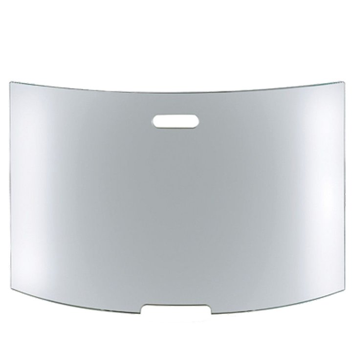 Conmoto Mentas Large Curved Glass Firescreen - Clear