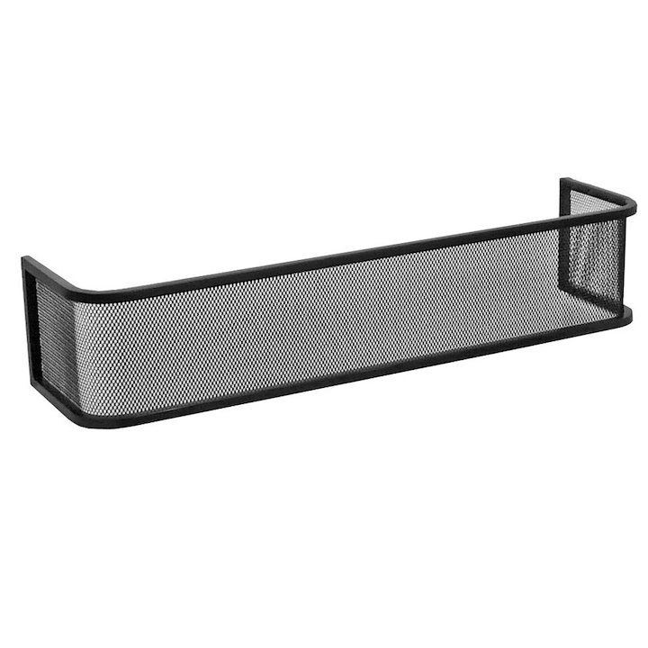 Manor Mini Plain Fireplace Fender Guard - Black
