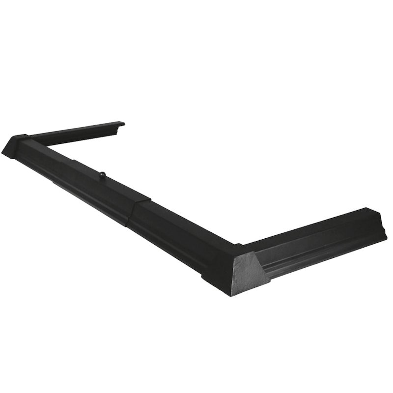 Calfire Plain Base Fireplace Hearth Fender - Black