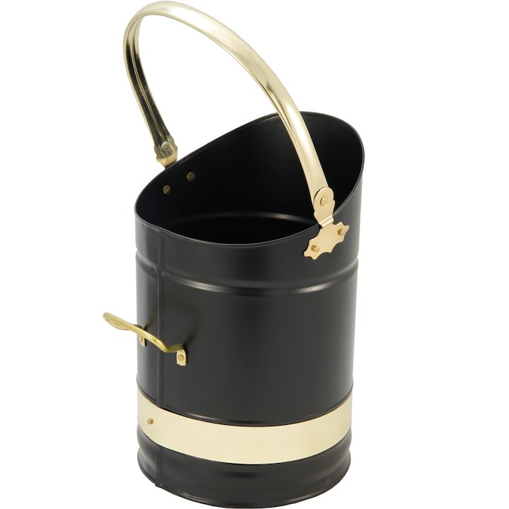 Calfire Kinton Coal Bucket - Black / Brass