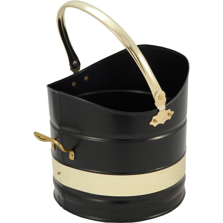 Calfire Sutton Coal Bucket - Black / Brass