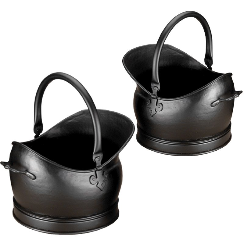 Calfire Kenley Coal Buckets - Set of 2 - Black