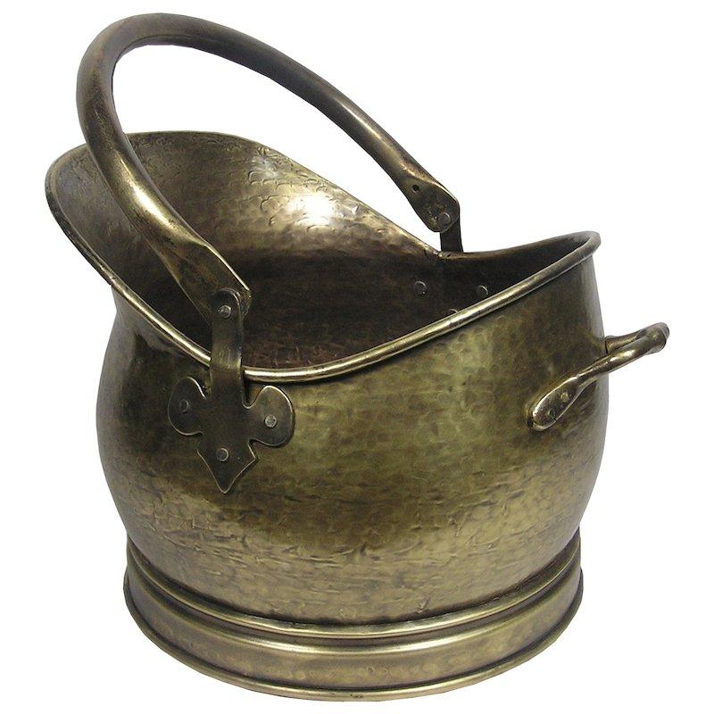 Calfire Kenley Large Coal Bucket - Antique Brass