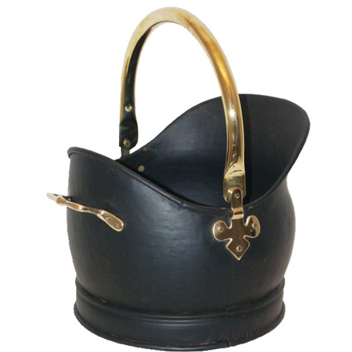 Calfire Kenley Large Coal Bucket - Black / Brass