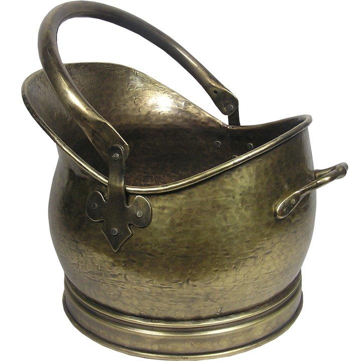 Calfire Kenley Medium Coal Bucket - Antique Brass