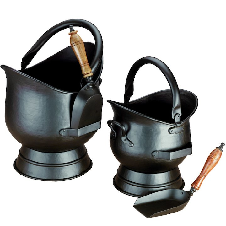 Calfire Hadley Coal Buckets - Set of 2 - Black