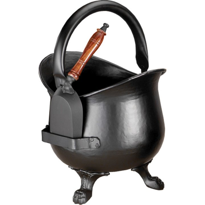 Calfire Nobold Coal Bucket With Shovel - Black