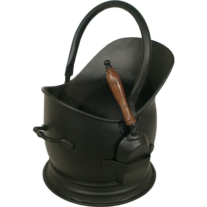 Calfire Stanton Coal Bucket With Shovel - Black