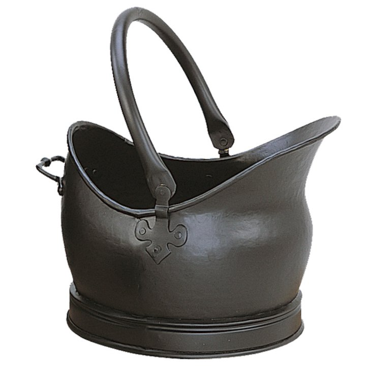 Manor Cathedral Large Coal Bucket - Black